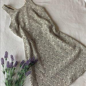 Hollister | Gray and Cream midi dress Large